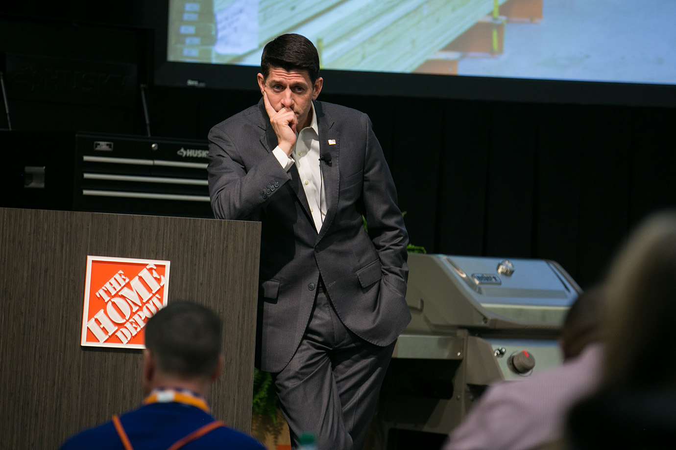 House Speaker Paul Ryan visits employees and hosts a Q&A at The Home Depot Store Support Center on M