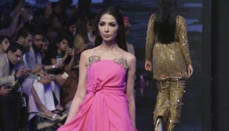 On the catwalk at Fashion Week in Lahore