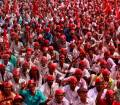 Pictures: Thousands of farmers protest in Mumbai
