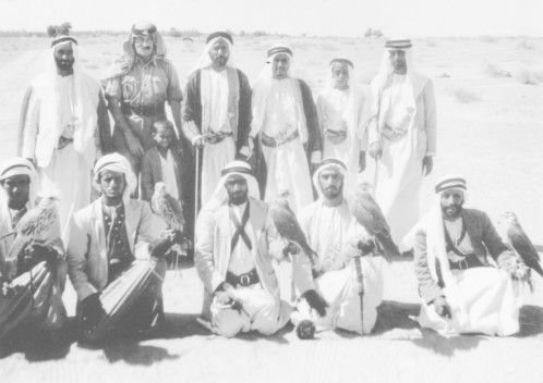 Sheikh Zayed standing top left