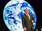 "Former US Vice President Al Gore delivering a keynote address on ""Future of our world and the existential threat posed by climate change"" at Global Education & Skills Forum 2018 in Dubai on Sunday. Photo: Virendra Saklani/Gulf News"