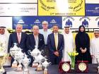 Mirza Al Sayegh, Shareef Al Halawani, Abdullah Al Ansari, Masoud Saleh and representatives of the sponsors at the Jebel Ali Racecourse conference. Friday's season finale features a six-race card highlighted by the Jebel Ali Classic (Silver Jubilee) Stakes.