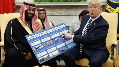 Pictures: Trump fetes Saudi Crown Prince
