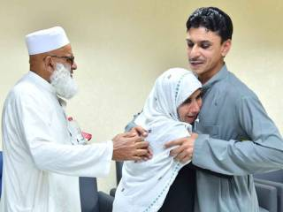 Son reunited with parents after six years