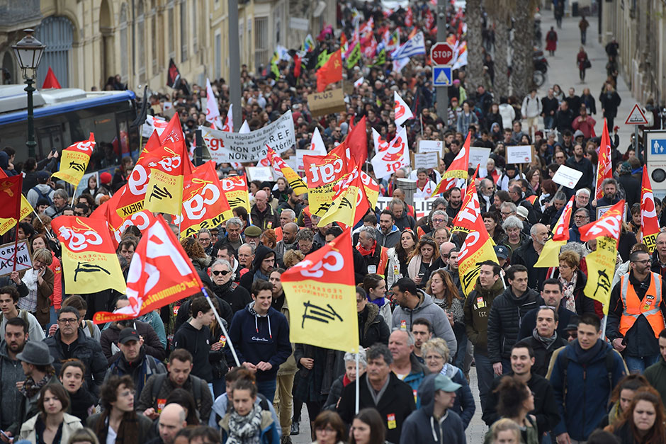 Image result for europe railway staff on strike in france