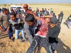 Palestinian deaf Tahreer Abu Sabala, 17, was shot and wounded in the head during clashes with Israeli troops, at Israel-Gaza border, in the southern Gaza Strip.