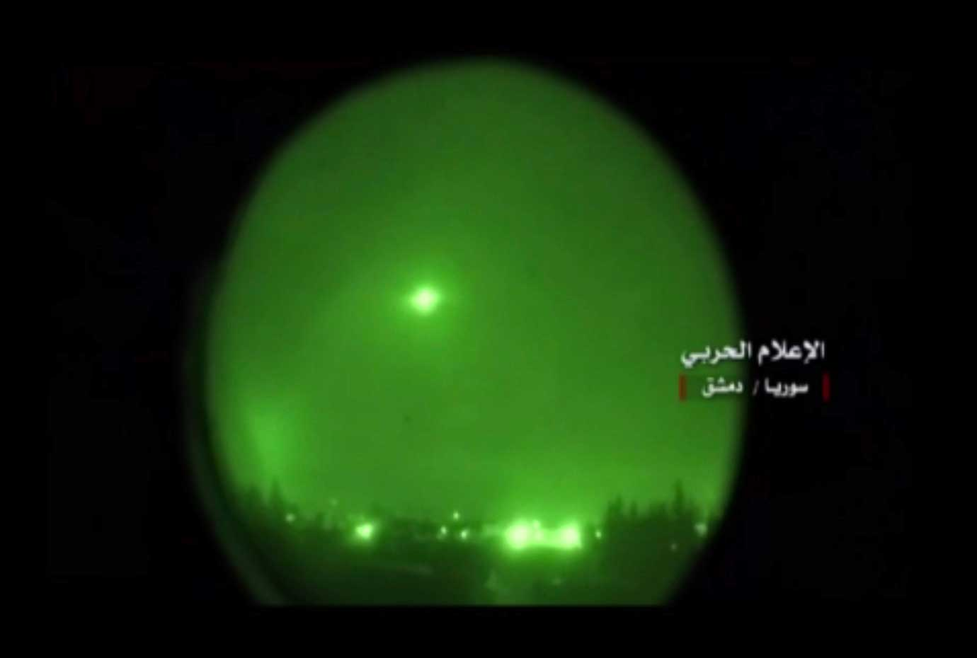 This frame grab from video provided by the government-controlled Syrian Central Military Media, show