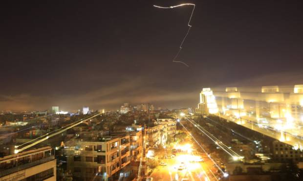 Pictures: Trump leads military strikes on Syria