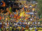 Jailing of separatists protested in Barcelona