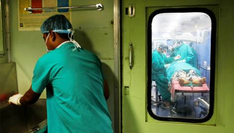 Look: Inside India's hospital train
