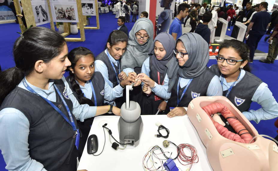 A capsule endoscopy made by Khalifa University students at Think Science Fair at DWTC