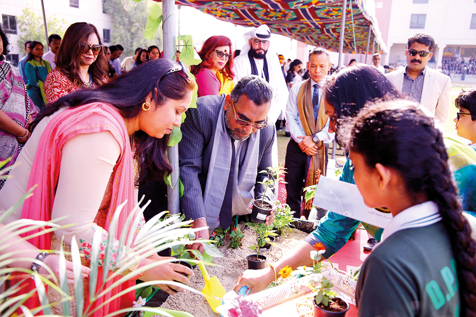 Students of Delhi Private School planted 2,083 saplings in their Dubai and Sharjah
