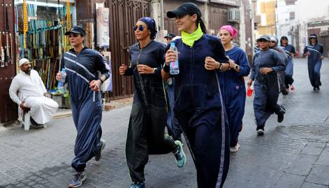 Saudi women embrace sports abayas