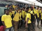 The Chennai Super Kings invited almost 1,000 fans to their new home ground at Pune via the Whistle Podu Express, a huge passenger train.