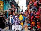 A busy street in the medina of Tunis, the capital of Tunisia