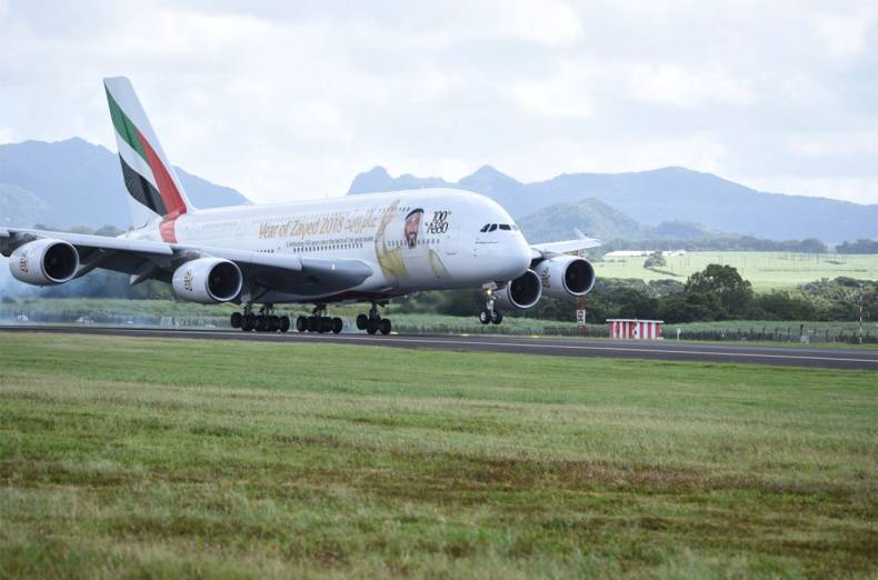 the-emirates-year-of-zayed-a380-touches-down-amidst-the-stunning-scenery-of-mauritius