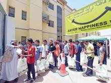 Zayed Happiness Van brings a smile to workers