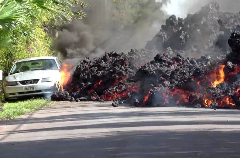 lava-engulfs-a-ford-mustang-in-puna-hawaii