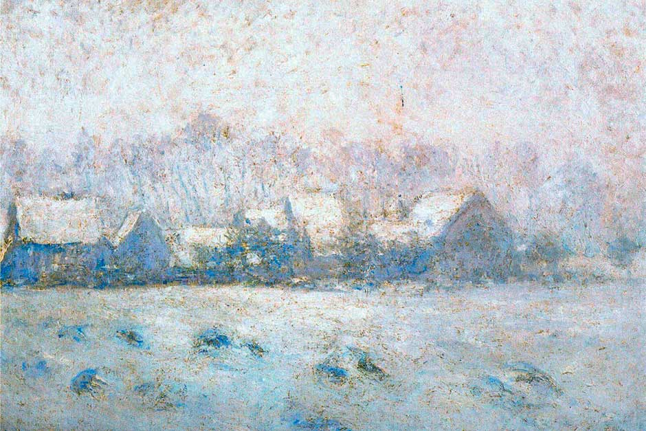 Snow Effect at Giverny (Effet de neige à Giverny) (1893)