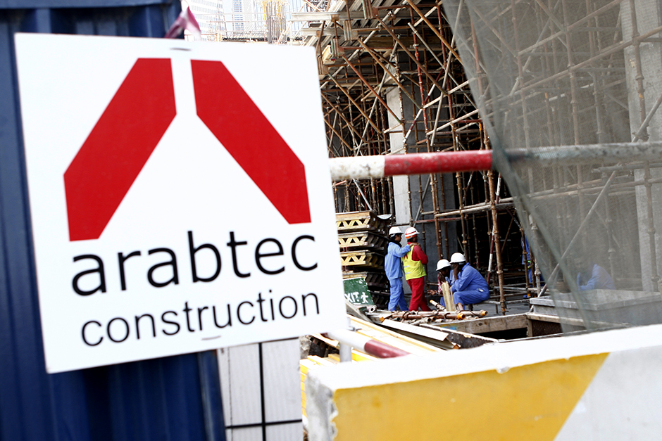 An Arabtec construction site at Business Bay.