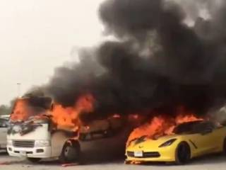 Driver sets 13 vehicles on fire in revenge