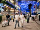 Shoppers at a mall in Kuwait City