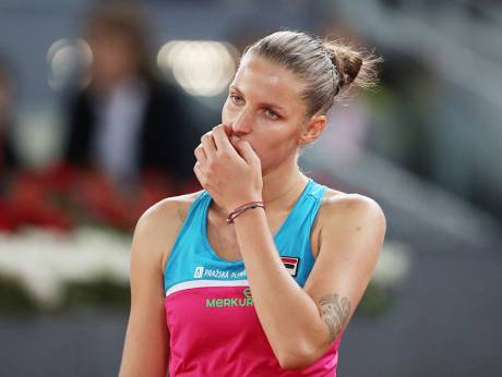 Watch: Pliskova smashes umpire's chair after defeat in Rome