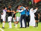 Al Ain players embrace their coach Zoran Mamic (centre) after winning the UAE President's Cup on May 3. Al Ain crashed out of the AFC Champions League casting doubts over Mamic's future.