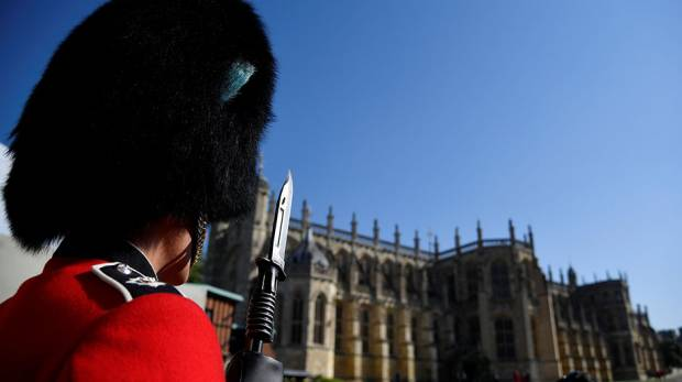 A Royal Guard is seen at Windsor Castle