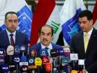 Riyadh al-Badran, the head of Iraq's Independent Higher Election Commission, speaks during a news conference on the final results of the election in Baghdad, Iraq.