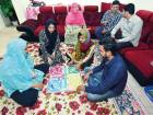 Farhana Naz (in pink) with her family at their home in Abu Dhabi.
