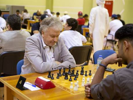 Grandmaster Viktor Moskalenko of Spain shares the lead with six others
