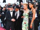 Director Spike Lee and his wifeTonya Lewis Leewith actress Laura Harrier at the premiere of thefilm 'The Man Who Killed Don Quixote'.