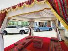 A Ramadan tent at an Arabian Automobiles showroom in Sharjah. After two very tough years, dealers will take anything where they can show some growth.