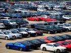Imported cars near a port in Qingdao, east China's Shandong province. China is set to cut tariffs on most imported cars to 15 percent from July 1, the finance ministry said on Tuesday