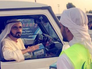 Watch: Mohammad surprises volunteers