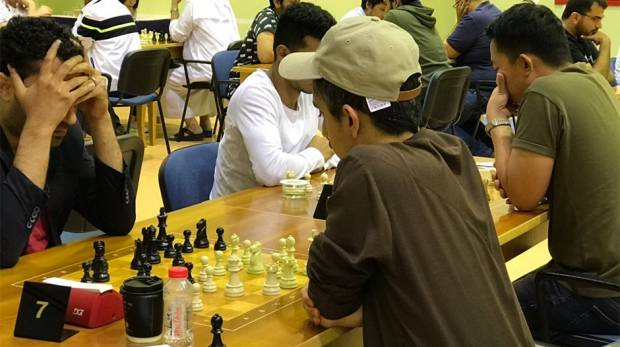 Players compete in the Allegiance to Zayed Chess Tournament