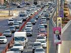 Traffic heading to Sharjah on Ittihad Road ahead of iftar.