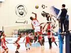 Amer Gulam Al Marzouqi of F3 rises to spike against the F3 'A' defensive wall in the volleyball final of the sixth NAS tournament. Al Marzouqi was later adjudged the best Emirati player.