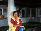 Sunitha Krishnan outside her office in Hyderabad. For more than two decades, Krishnan has led Prajwala, an organisation that rescues women and children from sex traffickers in Hyderabad and across India.