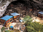 The cave-village of Zhongdong. Officials have told them to leave, offering them modern homes, but the residents refused