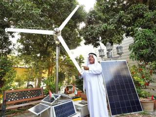 Emirati builds own wind turbine at home