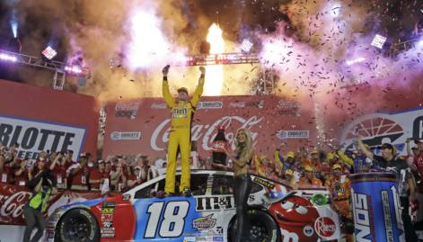 Kyle Busch wins coca-cola 600 stages