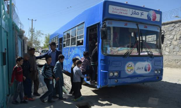 Library on wheels drives children to read