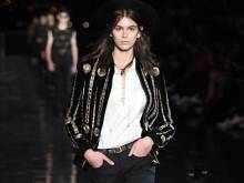Saint Laurent men's show is a glittery affair