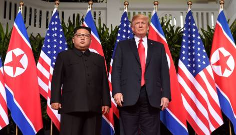 Trump and Kim summit in pictures