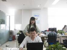 Female workers relieve stress of male coders