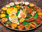 Massive spread. The Shaheenshahi Thali, which translates as the King of Kings costs Dh600 but works out at Dh150 per head as it's for four people.