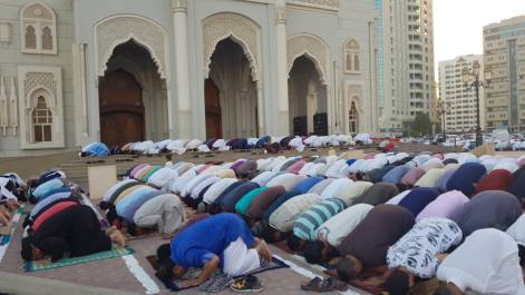 Pictures: Eid prayers at Sharjah mosque