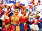 The cultural parade staged by Philippine organisations and schools